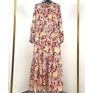 NEW🔥Vanessa Bruno Athe Floral Silk maxi Dress